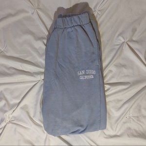 brandy melville baby blue sweatpants